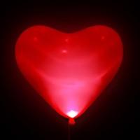 """Шар светящийся  сердце 17"""" с гелием в Севастополе"""