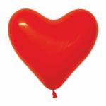 """Сердца латексные 10"""" красные с гелием в Севастополе"""