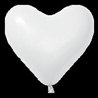 """Сердца латексные 10"""" белые с гелием в Севастополе"""