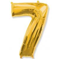 Цифра фольгированная 7 золото
