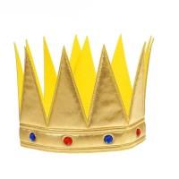 """Корона """"Царь"""" с камнями, цвет золотой"""